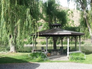 Gazebo at Swiftwater RV Park by the Salmon River