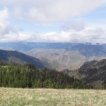 View into Hells Canyon from photo taken by Jim Brown