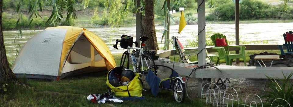 Bicycle campers find easy access, river views and beautiful scenery.