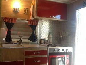Gorgeous vintage trailer appliances