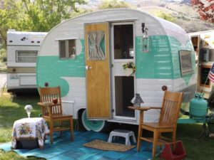 Vintage Trailer at Swiftwater RV Park