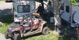 ATV riders at Swiftwater RV Park
