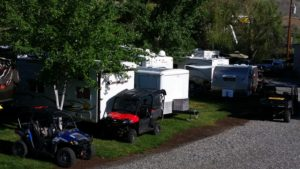 ATVs, UTVs, Toy Haulers and RVs galore at Swiftwater RV Park